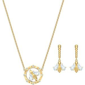 Swarovski BEE A QUEEN Necklace and Earring Set